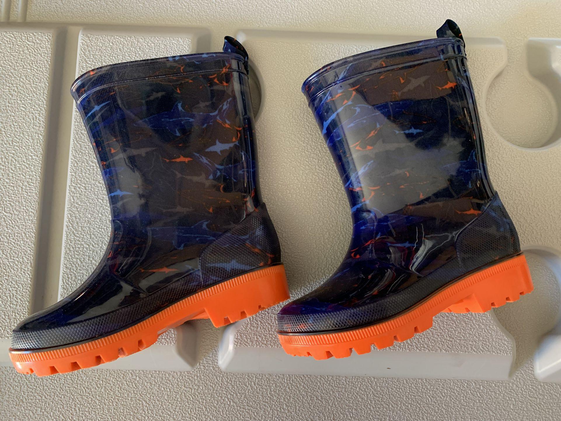 Brand New Toddler Boy Rain Boots Size 7/8