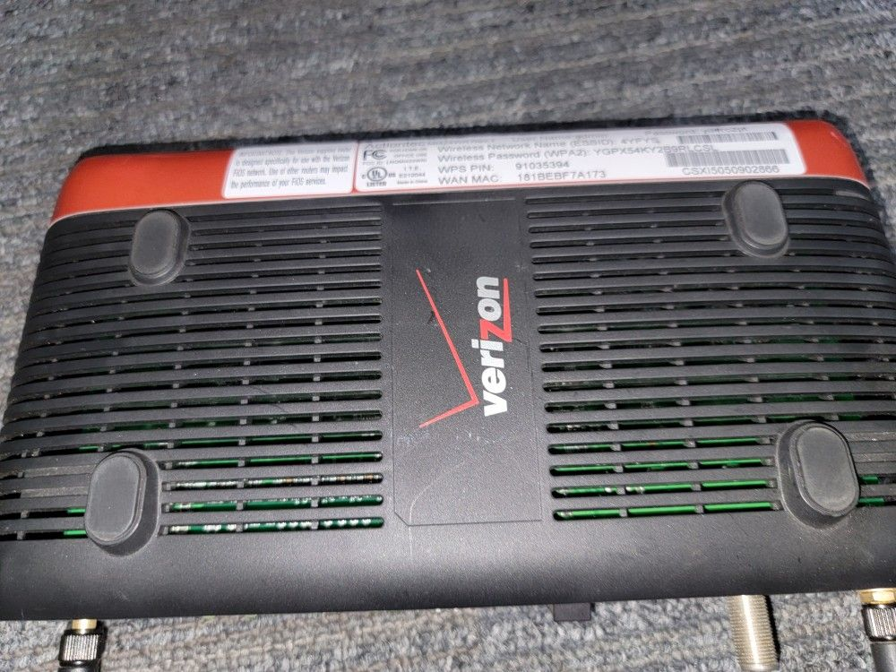 Verizon Actiontec MI424WR Rev.1 1gb Wired 4port Wireless Router