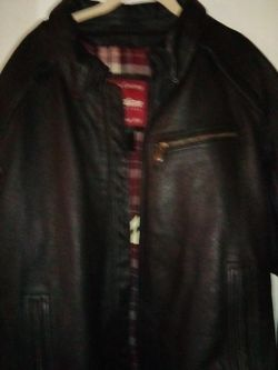 2X black leather Indian motorcycle jacket Thumbnail