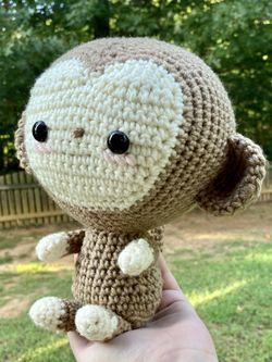 Handmade Monkey Stuffed Animal Thumbnail