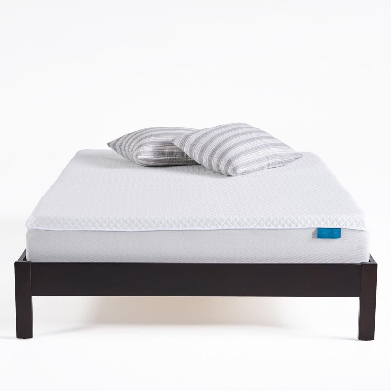 "Barchetta 10"" Medium Soft Cool to Touch Mattress, White and Gray"