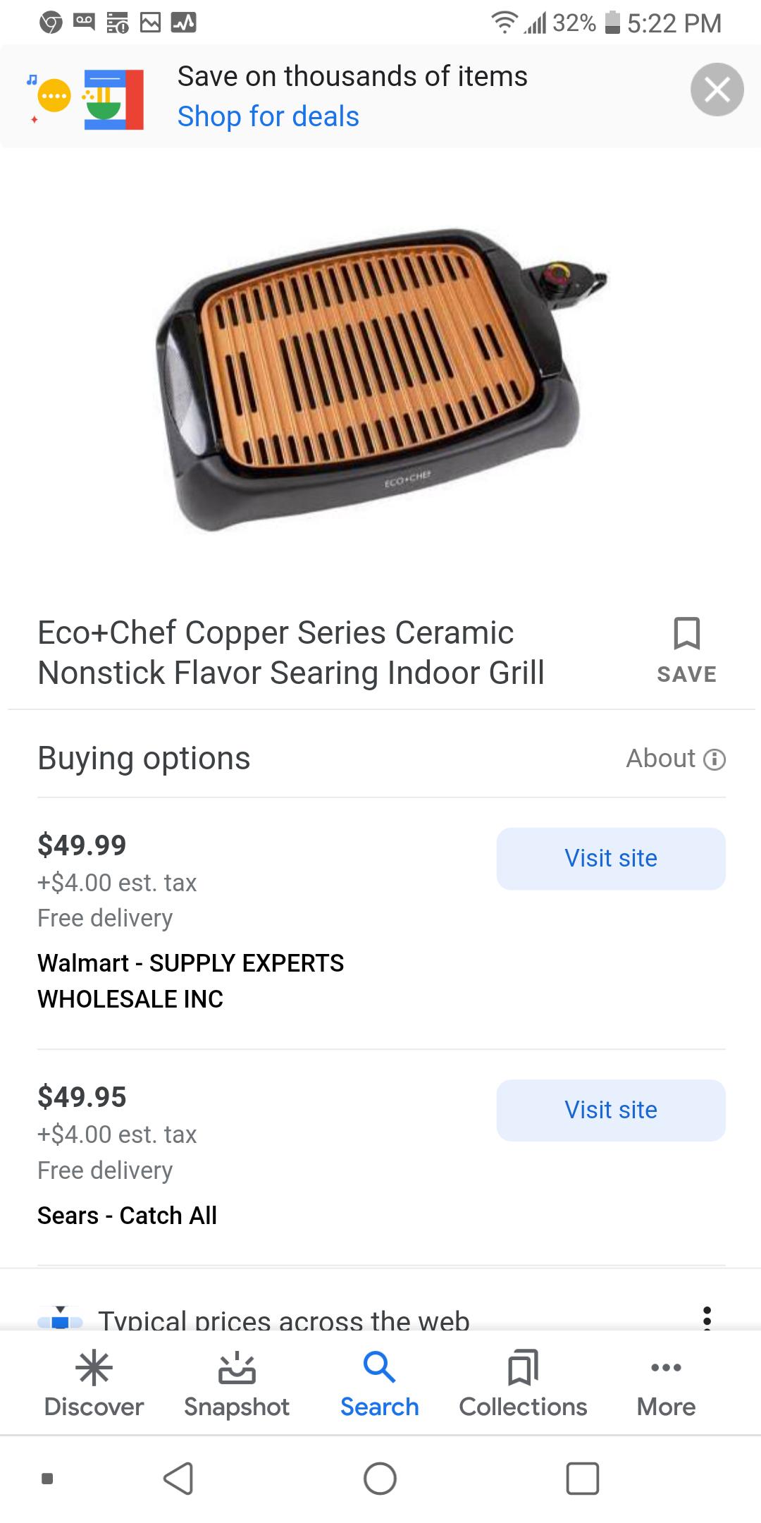 6 piece Eco Chef copper cookware set