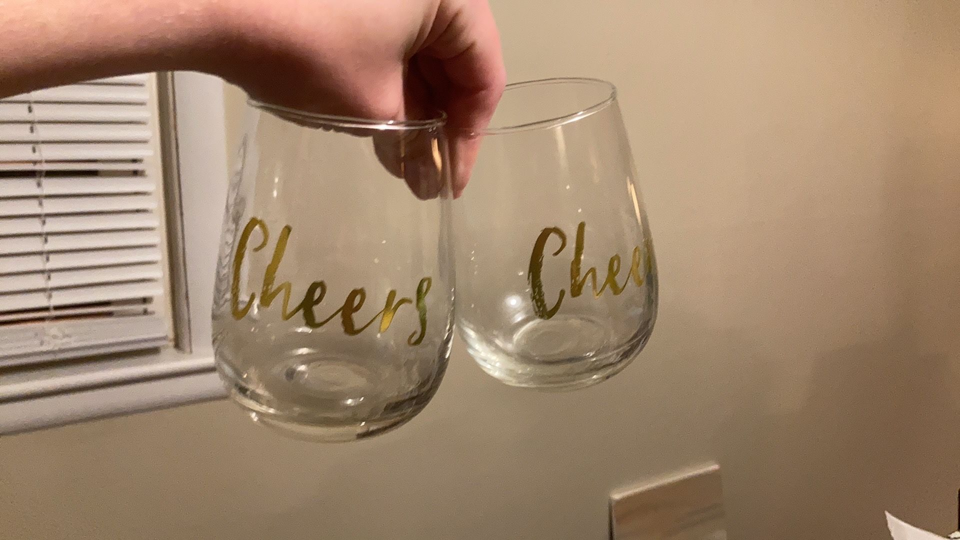 Cheers Stemless Wine Glasses