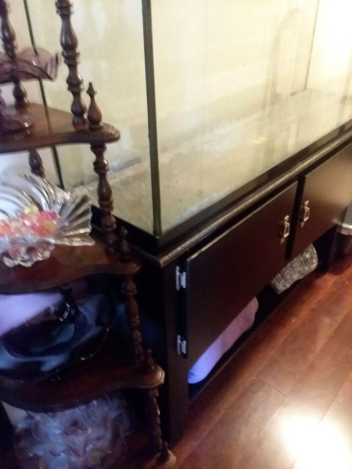 70 Gallon Aquarium and Cabinet Stand
