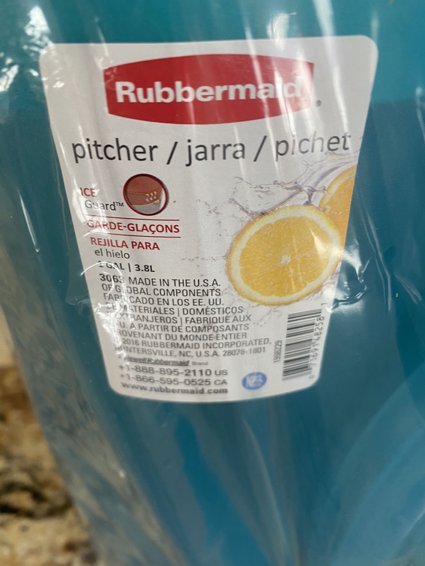 2 Rubbermaid Gallon Pitchers
