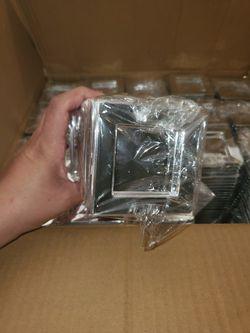 """500 Silver 3"""" square Dessert Plates Plastic Thumbnail"""