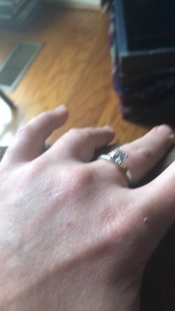 Wedding RingG Si Carat Cushion Diamond Ring 14K White Gold Enhanced Thumbnail