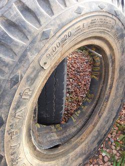 9.00-20 four tractor tires w/inner tubes $40each Thumbnail