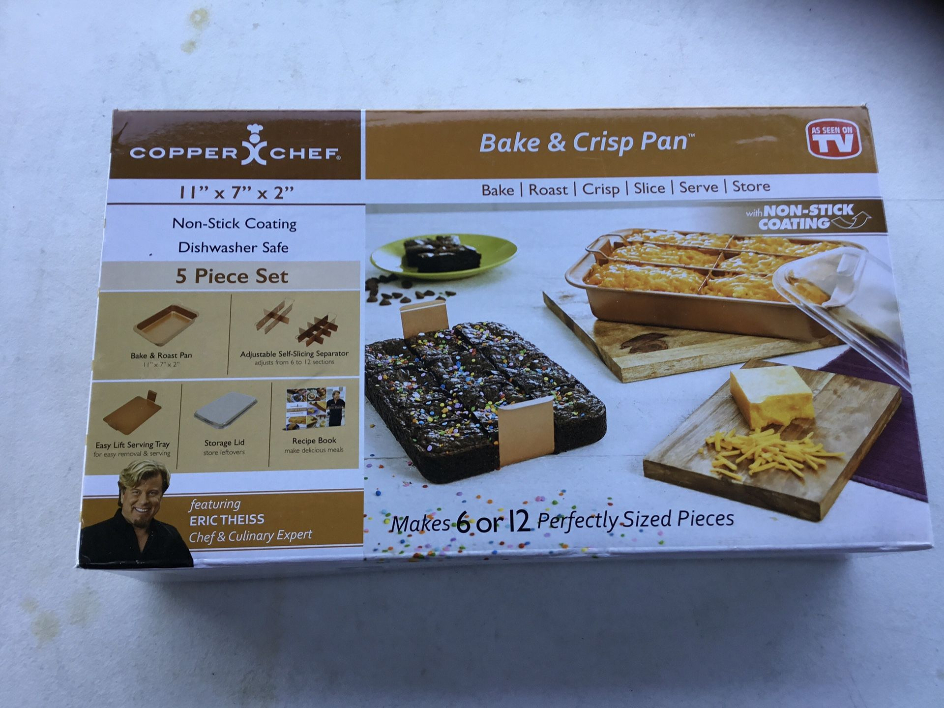 Copper chef 5 pc bake and crisp baking set
