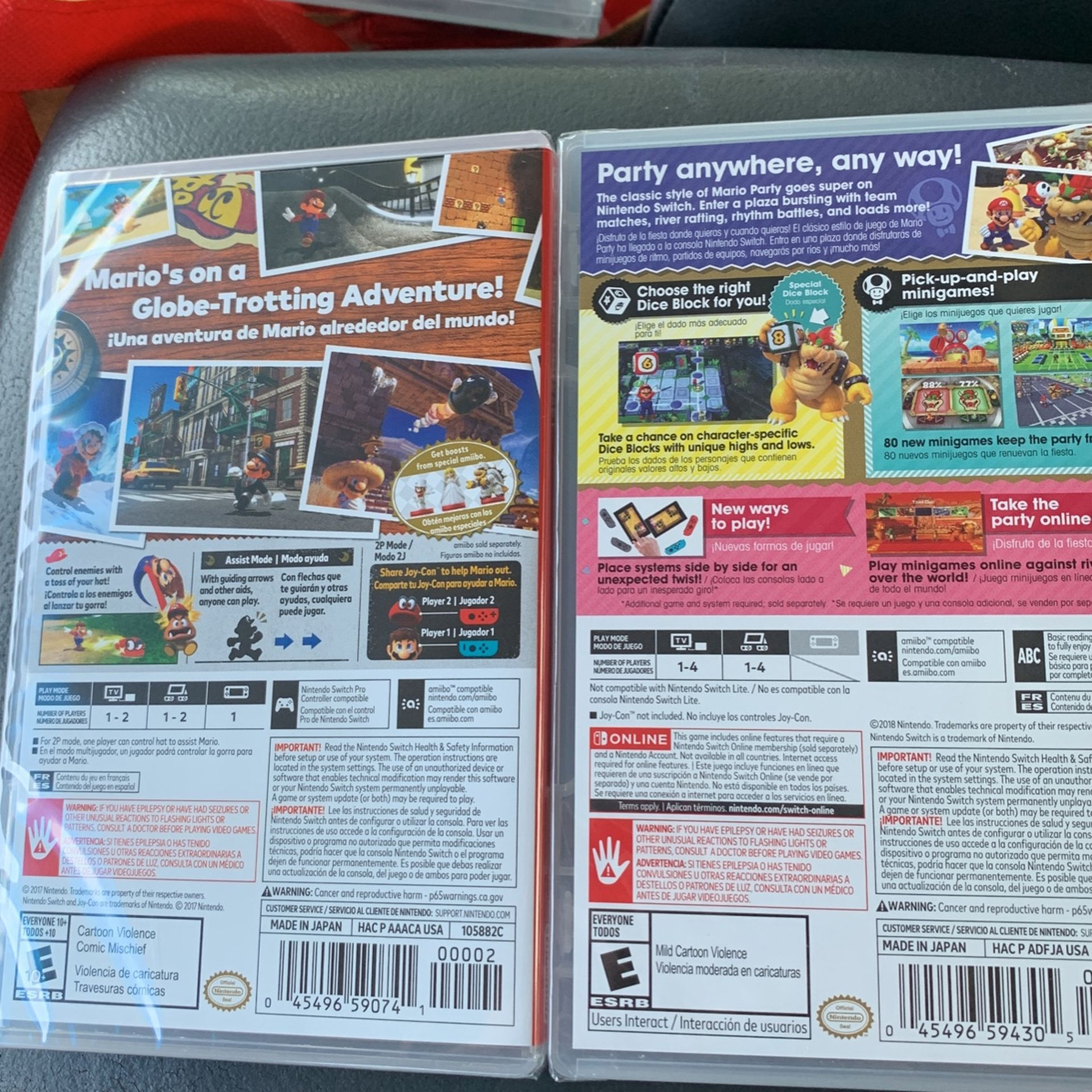 Mario Odyssey And Mario Party - Both Games Have Never Been Opened- Retails For $60 - Selling For $45 Each