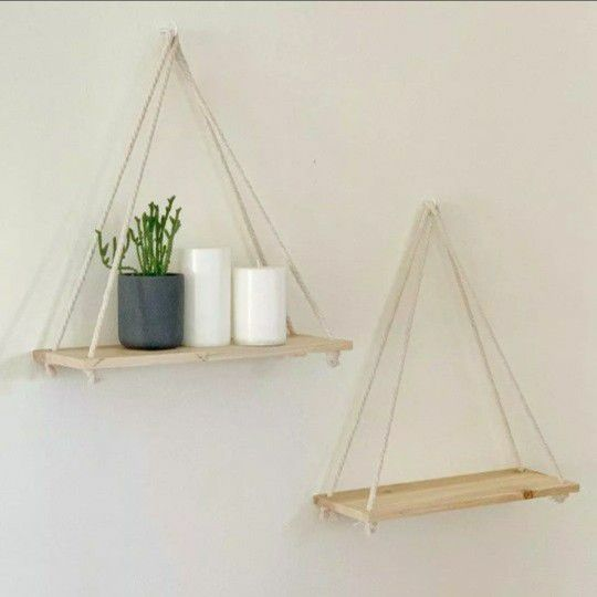 Flower Pot Tray Mounted Floating Wall Shelves