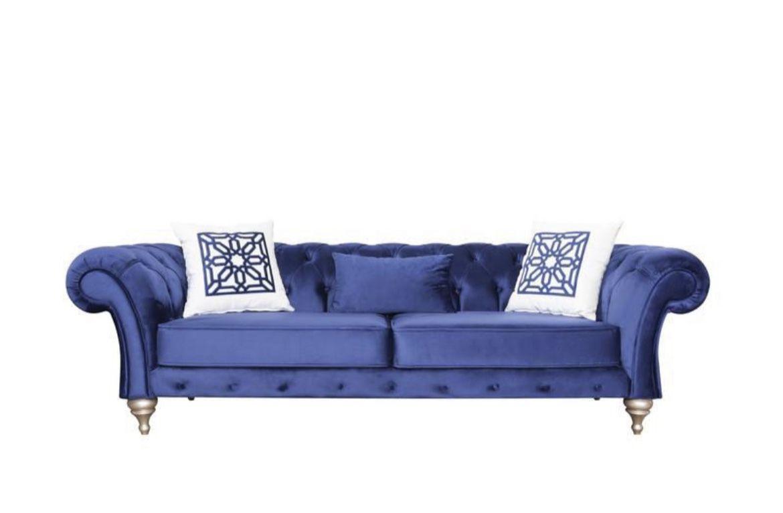 (BRAND NEW) Loretta Blue Velvet Sofa & Loveseat